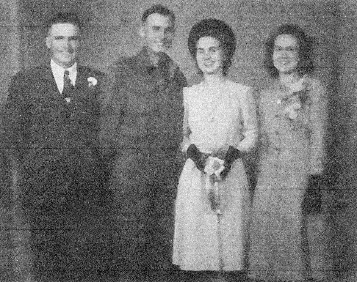 Peggy with family